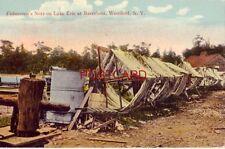 FISHERMAN'S NETS ON LAKE ERIE AT BARCELONA, WESTFIELD, N.Y.