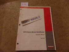 CASE 8312 Rotary Mower Conditioner Operation's Manual 6-6820