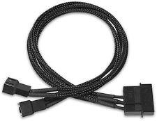 PQ481 Nanoxia 4-Pin Molex to 2 x 3-Pin Adaptor 30 cm Single Sleeve Int PC Cable