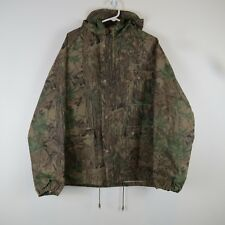 Stearns Realtree Hardwoods Camo Hooded Polyvinyl Rain Jacket Mens Size Large