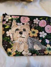 Hand Painted yorkshire terrier yorkie sweet New cosmetic bag