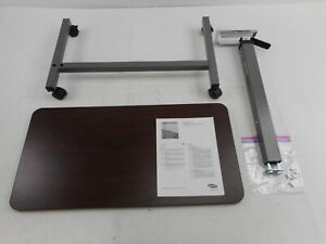 Invacare 6417 Adjustable Overbed Table w/ Wheels, Walnut