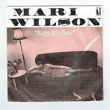 "Mari WILSON Vinyl 45T 7"" BABY IT'S TRUE - BEAT THE BEAT -Sentinel 6010529 RARE"