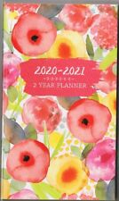 FLORAL  2020-2021 - 2 YEAR POCKET CALENDAR AGENDA PLANNER APPOINTMENT BOOK *