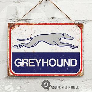 Greyhound Bus Metal Wall Sign Pub Bar Home Mancave Garage Shed Rescue American