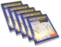5x Spielblock für Knobel   Würfelspiele   Spiel Block Knobelspiele