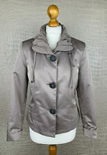 BONITA Damen Gr. 38 Jacke Satin Glanz Jacket Taupe Crash Blazer #306