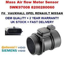 Mass Air Flow meter sensor 5WK97008 8200280060 for VAUXHALL RENAULT NISSAN VDO