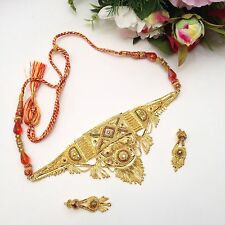 Indian Asian Bridal Jewellery Party Ethnic Wear 22ct Gold Plated Necklace Set