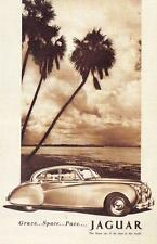Postcard Nostalgia 1954 Jaguar Mark 7 Advertisment Reproduction Card