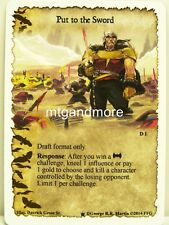 A Game of Thrones LCG - 1x put to the sword #d001 - continente occidentale Draft Pack