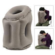 Inflable cojín de aire de viaje almohada cabeza de sueño para acampar vuelo moda