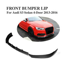 Auto Front Lip Chin Spoiler Carbon Fiber Fit for Audi S3 Sedan 4-Door 2013-2016