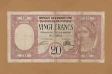 More details for #french banque de l' indochina tahiti 20 francs 1928 p-12 af papeete rare
