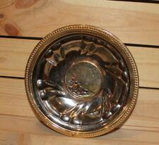 Vintage hand made ornate metal footed bowl