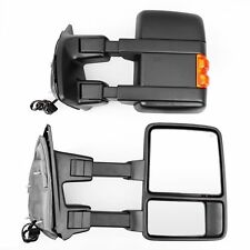 Fit 2008-2016 Ford F250 F350 Telescoping Tow Mirrors Power Heated w/Signal LH+RH