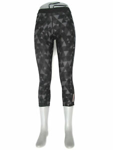 Nike Skinny Running Workout Yoga Tights Leggings Womens Sz S Black Gray Mid-Calf