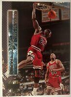 1996-97 Stadium Club Shining Moments #SM2 Michael Jordan, Insert, Chicago Bull