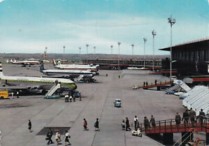 THREE DE HAVILLAND COMET4s  AT ROME - UNITED ARAB AIRLINES, OLYMPIC AW & M.E.A.
