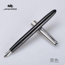 Jinhao 51A Plastic/Wood Fountain Pen Hooded Iridium Fine Nib F/0.5mm Writing New