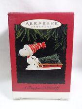 1996 Hallmark Keepsake Ornament A Tree For Snoopy Peanuts