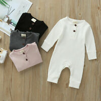 Newborn Baby Girl Boy Knitted Romper Jumpsuit Infant Spring Long Sleeve Clothes