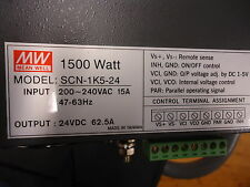 SCN-1K5-24 Meanwell 1500 Watt Enclosed Switching BRAND NEW!