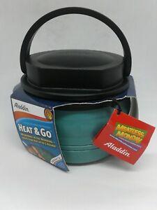 NEW Aladdin Micro Magic Hot Food Handled Thermos  Microwaveable Heat & Go Green