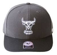 47 Brand Chicago Bulls 2 Tone Hook & Loop Hat + GT Wristband- Charcoal Black