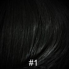 Short Brown 100% Human Hair Wig w/Bangs Black/Blond/Auburn/Gray