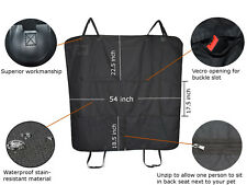 Pet dog waterproof rear back seat cover hammock convertible protector non-slip