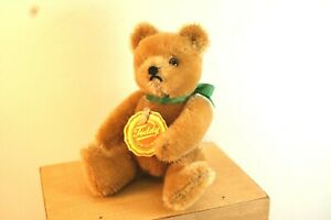 Hermann Mohair Teddy Bear, Jointed, Chest & Seam Tag, 5 Inches