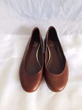 10022 Shoe Saks Fifth Avenue Brown Leather Ballet Flats - Size 37