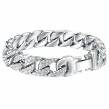 Mens Chain Bracelet Stainless Steel Large Heavy Classic Silver Gold Jewellery