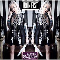 Iron Fist Wishbone Black Skeletal Halo Tutu Dress Size M/UK10