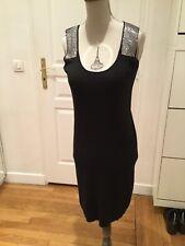 Superbe robe noire soie cachemire MAJE T.1 ou 36 neuve avec étiquette