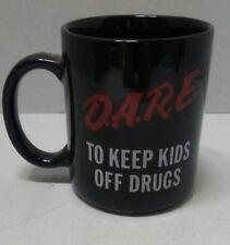 "DARE Coffee Mug ""To Resist Drugs and Violence"" Black D.A.R.E. super clean"
