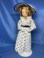 Vintage Shirley Temple Bright Eyes All Dolled Up Danbury Mint Doll White Dress