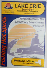 Lake Erie Fishing Lake Map, Sturgeon Pt Peace Bridge to Pt Abino, GPS Pts #M485