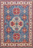 Geometric Vegetable Dye Super Kazak Oriental Area Rug Hand-knotted WOOL 8'x10'