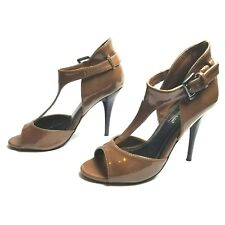 Anne Michelle women's brown t-strap stiletto heels size 6
