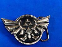2007 Nintendo Official Legend of Zelda Metal Belt Buckle Black/white Triforce