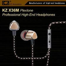 KZ X36M Plextone Pro High-End In-Ear Kopfhörer/Headset Ohrhörer Hammerbass Gold