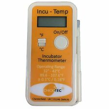 CHICKTEC INCU-TEMP DIGITAL INCUBATOR THERMOMETER Poultry Range 32-43 Degrees C