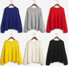 Crewneck Hand-wash Only Solid Jumpers & Cardigans for Women