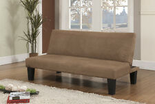 King's Brand Beige Fabric With Adjustable Back Klik Klak Sofa Futon Bed Sleeper