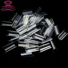 500 MAKARTT CLEAR PRE-PINCHED NAIL TIPS - false  *UK SELLER*