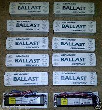 12  NIB Advance REL-2P32-RH-TP Fluorescent Ballast, 120 Volt F032T8 (2) Lamp LOT