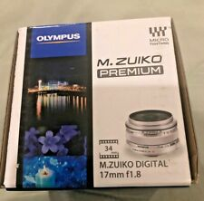NEW Olympus M.Zuiko Digital 17mm f/1.8 lens PREMIUM MICRO Four Thirds BLACK