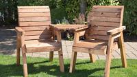 2 Seater Person Wooden Garden Bench Love Seat Chair Outdoor Patio Companion Set